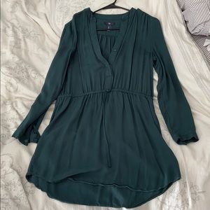 Gap Midi Tie Wait Dress in Green